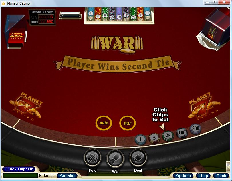 play casino war