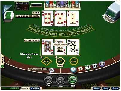 4 card poker free online game