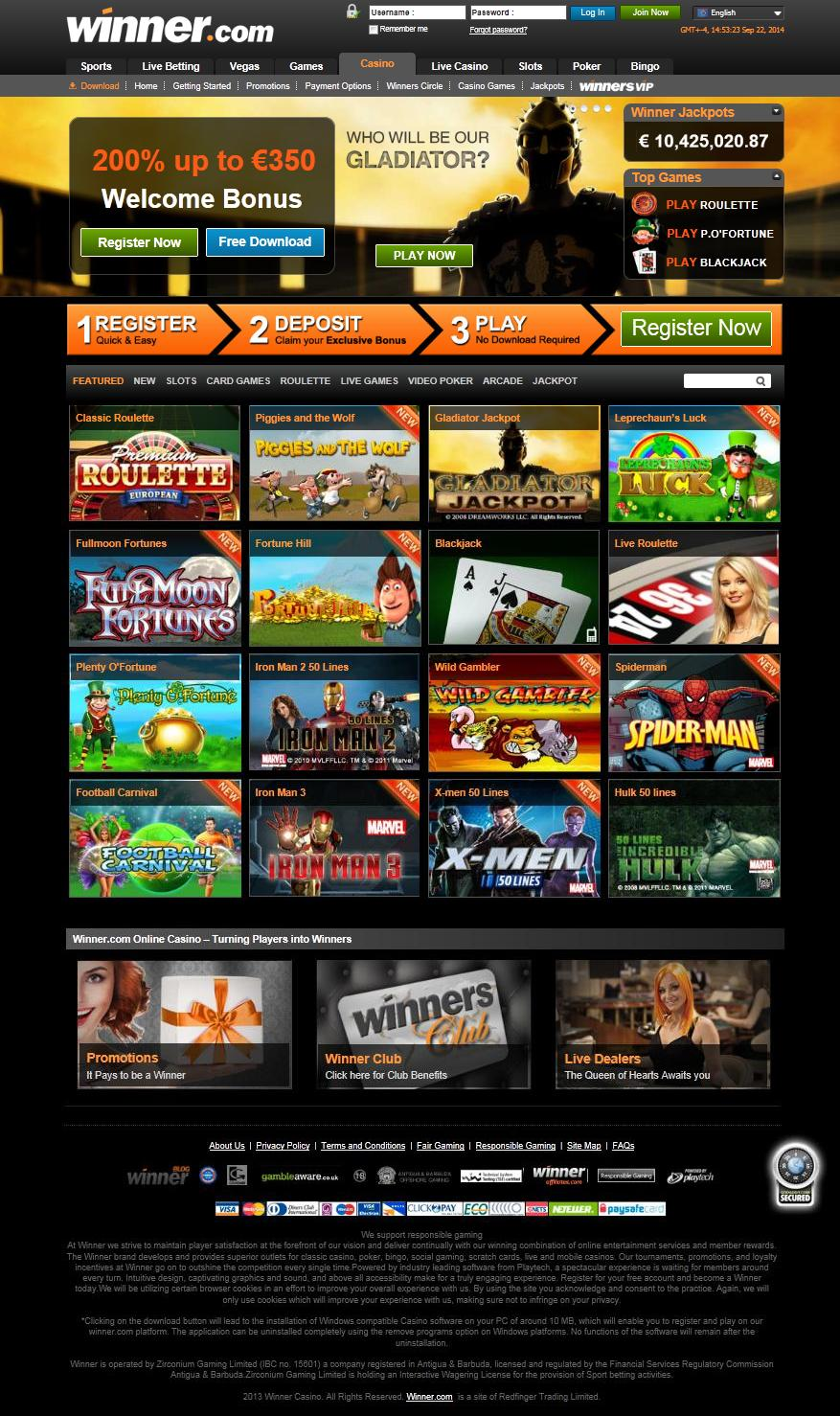 casino winner download