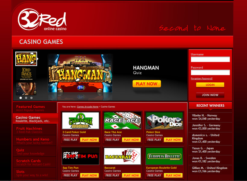 32red online casino uk