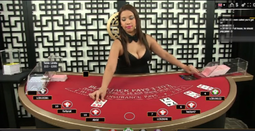 Play Blackjack Online Live Dealer