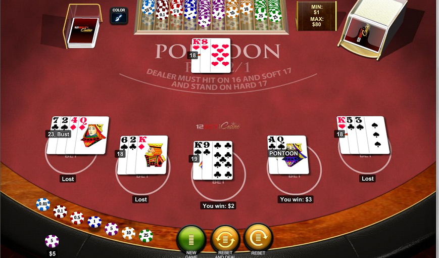 Play Pontoon Blackjack Online at Casino.com NZ