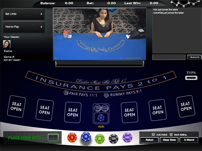 live online casino like a diamond