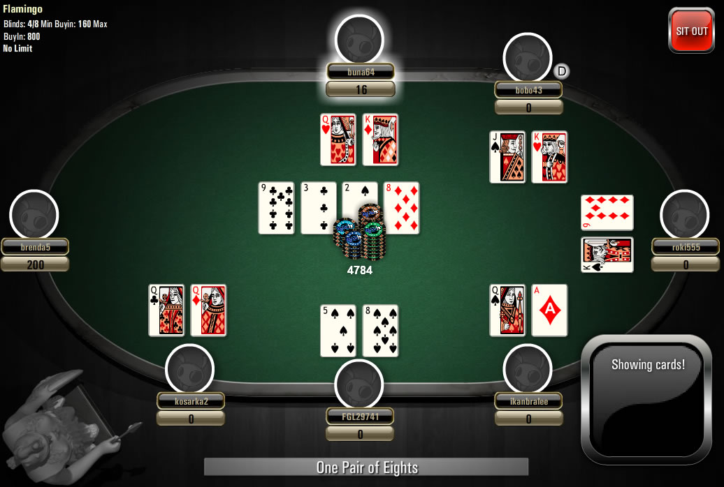 casino poker online sizzling games