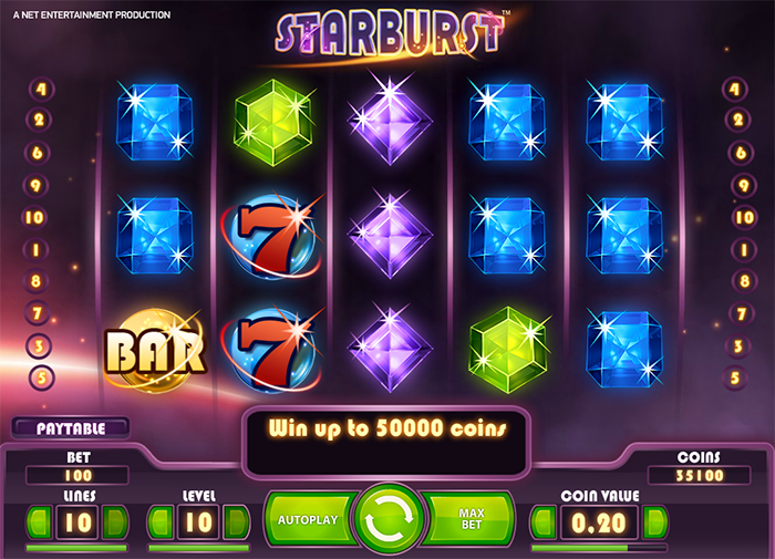 slot machines online starburts