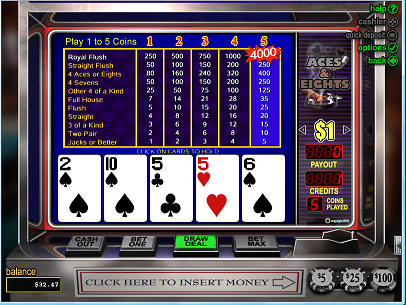 Online Video Poker casino games