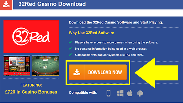 32Red Casino Download Step 1