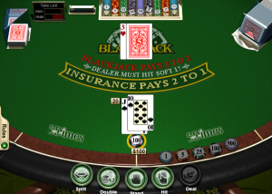 5Dimes Casino Blackjack Screenshot