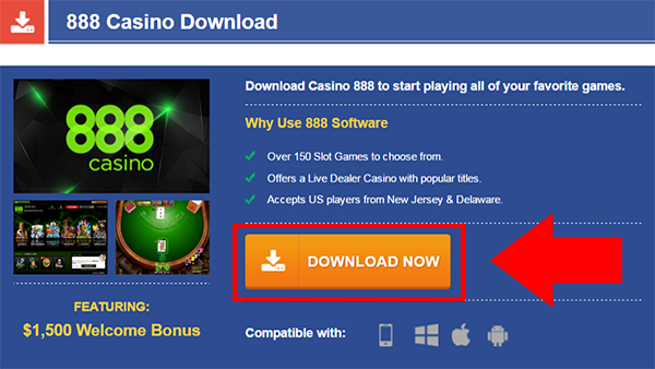 888 casino download windows