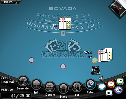 Bovada Casino Blackjack
