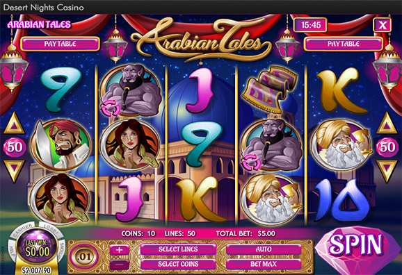 Desert Nights Casino Arabian Tales Slot