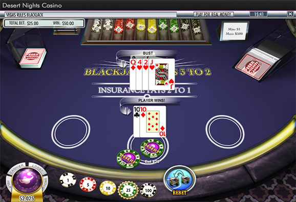 Desert Nights Casino Blackjack