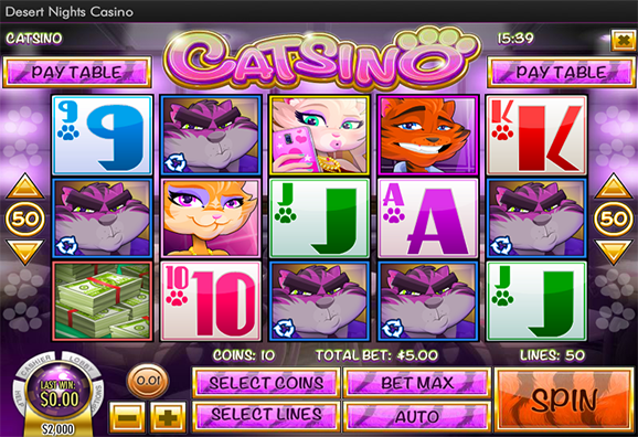 Desert Nights Casino Catsino Slot