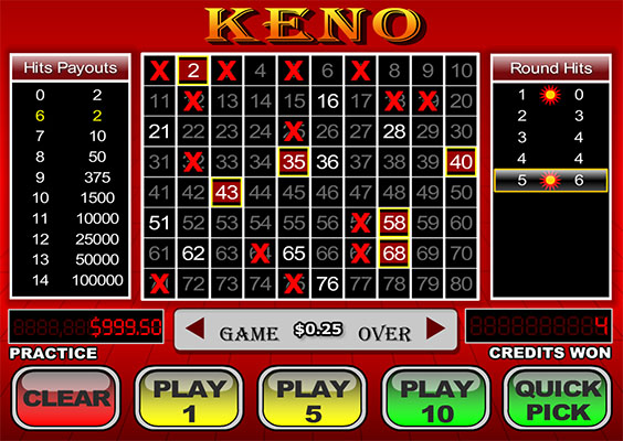 Online Keno 2020 How To Play The Best Us Casinos