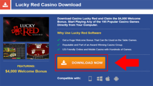lucky red casino download step 1