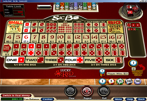 Lucky Red Casino Sic Bo