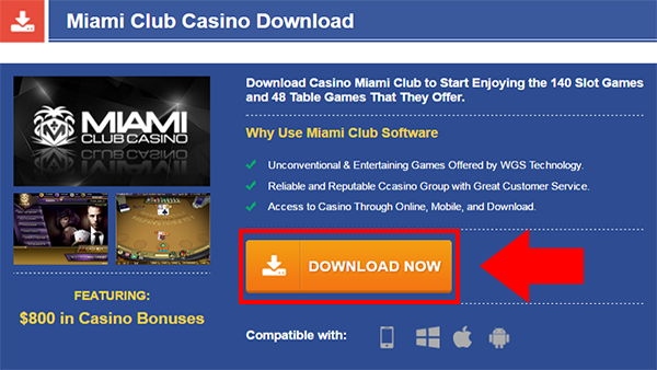 miami club casino software