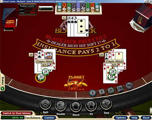Planet7 Casino Blackjack