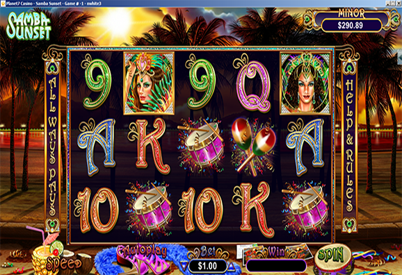Planet7 Casino Samba Sunset Slot