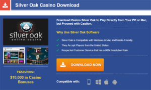 Silver Oak Casino download step 1