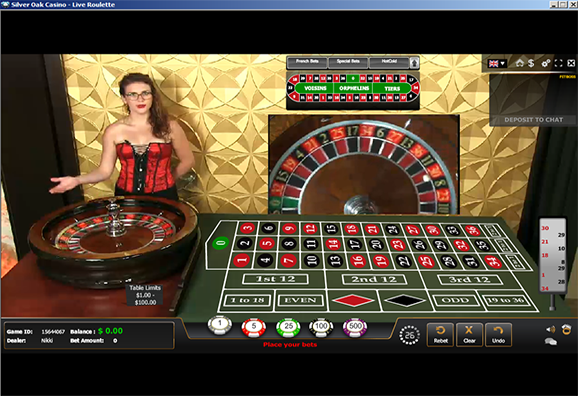 Silver Oak Casino Live Dealer Roulette
