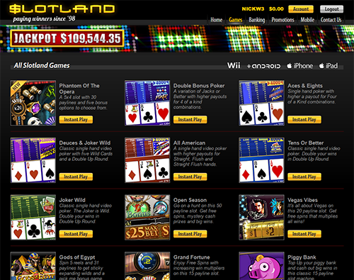 Instant play casino no deposit bonus