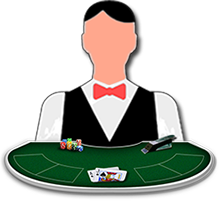 Live dealer blackjack table