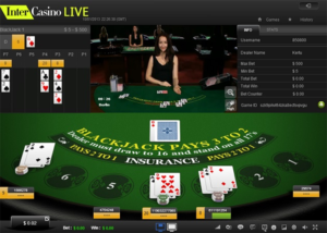 InterCasino live dealer blackjack