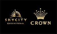 Skycity Queenstown and Crown Casino logos