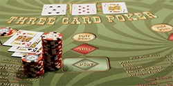 Ultimate Three Card Poker table