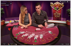 Live Dealer Blackjack Party table layout