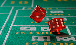Live Dealer craps game