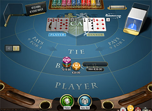 Online baccarat game rules