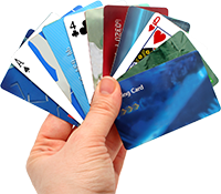 deck of credit card casino deposits
