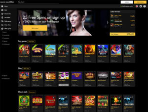 Black Diamond Casino homepage