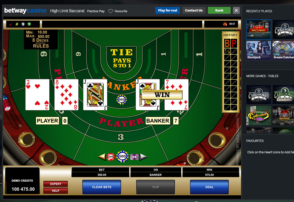betway casino software