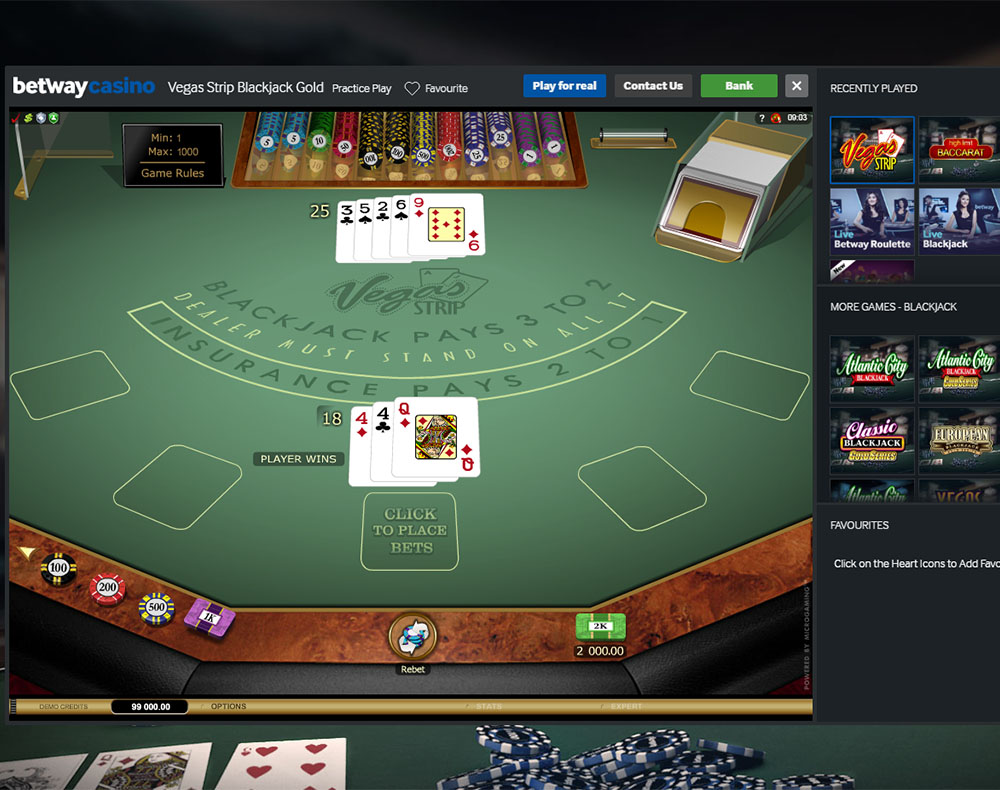 betway casino software download
