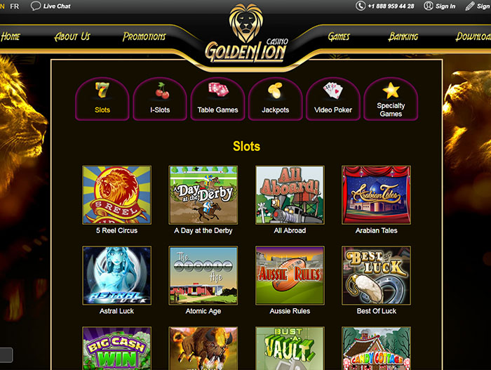 golden lion online casino review