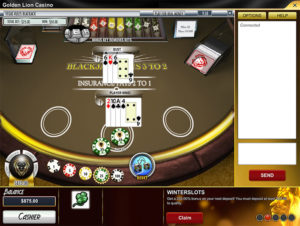 Online Blackjack at Golden Lion Casino