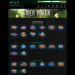 WildCasino video poker games