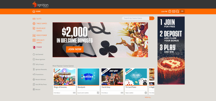 Ignition Casino Casino Instant Download