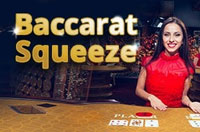 Live baccarat squeeze at Magic Red