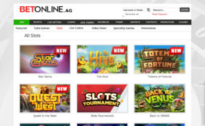 BetOnline Casino Real Money Slot Games Screenshot