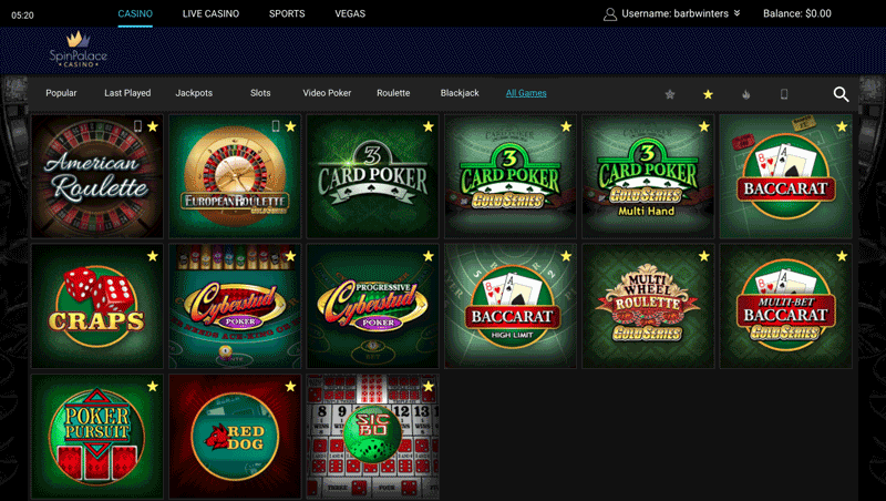 spin palace casino online play