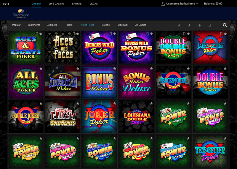 spin palace play online casino