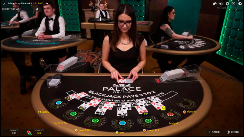 live dealer spin palace casino