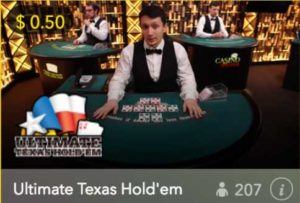 Spin Palace Casino Live Dealer Texas Hold'em