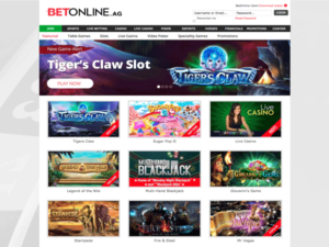 BetOnline Home Page
