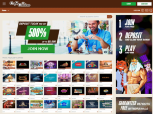 Cafe Casino Home Page