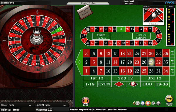 InterCasino Roulette Game